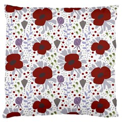 Flower Floral Rose Leaf Red Purple Standard Flano Cushion Case (One Side)