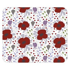 Flower Floral Rose Leaf Red Purple Double Sided Flano Blanket (Small)