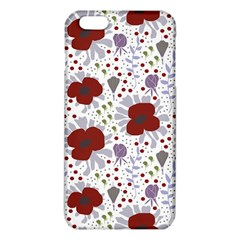 Flower Floral Rose Leaf Red Purple iPhone 6 Plus/6S Plus TPU Case