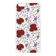 Flower Floral Rose Leaf Red Purple Apple Seamless iPhone 6 Plus/6S Plus Case (Transparent)