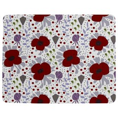 Flower Floral Rose Leaf Red Purple Jigsaw Puzzle Photo Stand (Rectangular)