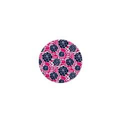 Flower Floral Rose Purple Pink Leaf 1  Mini Magnets