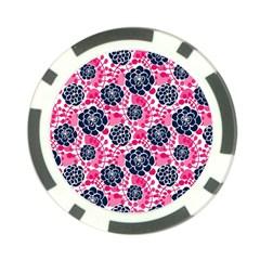 Flower Floral Rose Purple Pink Leaf Poker Chip Card Guard (10 pack)
