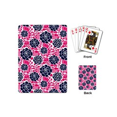Flower Floral Rose Purple Pink Leaf Playing Cards (Mini)