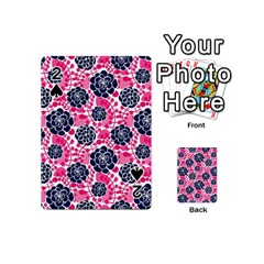 Flower Floral Rose Purple Pink Leaf Playing Cards 54 (Mini)