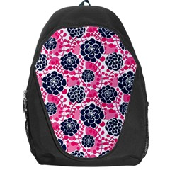 Flower Floral Rose Purple Pink Leaf Backpack Bag