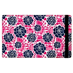 Flower Floral Rose Purple Pink Leaf Apple iPad 2 Flip Case