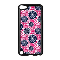 Flower Floral Rose Purple Pink Leaf Apple iPod Touch 5 Case (Black)