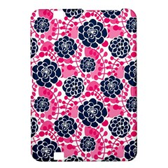 Flower Floral Rose Purple Pink Leaf Kindle Fire HD 8.9