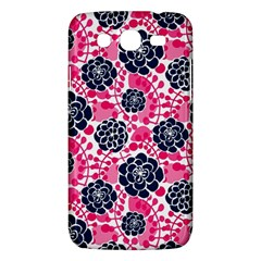Flower Floral Rose Purple Pink Leaf Samsung Galaxy Mega 5.8 I9152 Hardshell Case