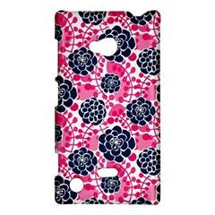 Flower Floral Rose Purple Pink Leaf Nokia Lumia 720