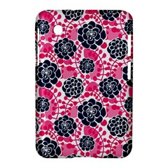 Flower Floral Rose Purple Pink Leaf Samsung Galaxy Tab 2 (7 ) P3100 Hardshell Case