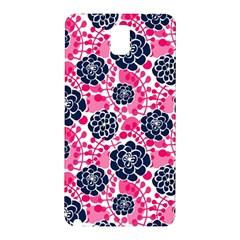 Flower Floral Rose Purple Pink Leaf Samsung Galaxy Note 3 N9005 Hardshell Back Case