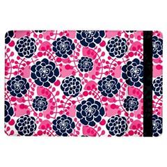 Flower Floral Rose Purple Pink Leaf iPad Air Flip