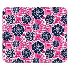 Flower Floral Rose Purple Pink Leaf Double Sided Flano Blanket (Small)