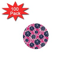 Flower Floral Rose Purple Pink Leaf 1  Mini Buttons (100 pack)
