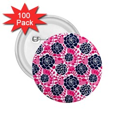 Flower Floral Rose Purple Pink Leaf 2.25  Buttons (100 pack)