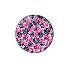 Flower Floral Rose Purple Pink Leaf Hat Clip Ball Marker (10 pack)
