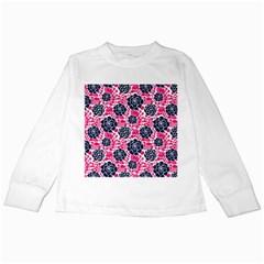 Flower Floral Rose Purple Pink Leaf Kids Long Sleeve T-Shirts