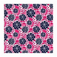Flower Floral Rose Purple Pink Leaf Medium Glasses Cloth (2 Side)