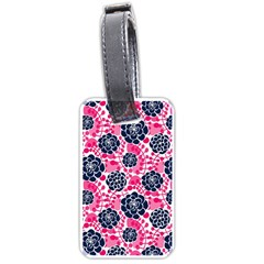 Flower Floral Rose Purple Pink Leaf Luggage Tags (Two Sides)