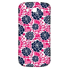 Flower Floral Rose Purple Pink Leaf Samsung Galaxy S3 S III Classic Hardshell Back Case