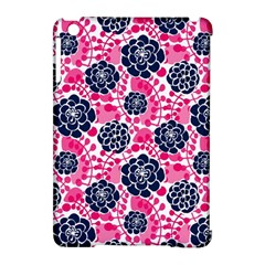 Flower Floral Rose Purple Pink Leaf Apple iPad Mini Hardshell Case (Compatible with Smart Cover)