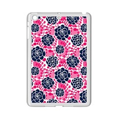 Flower Floral Rose Purple Pink Leaf iPad Mini 2 Enamel Coated Cases