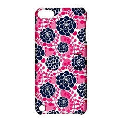 Flower Floral Rose Purple Pink Leaf Apple iPod Touch 5 Hardshell Case with Stand