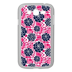 Flower Floral Rose Purple Pink Leaf Samsung Galaxy Grand Duos I9082 Case (white)