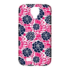 Flower Floral Rose Purple Pink Leaf Samsung Galaxy S4 Classic Hardshell Case (PC+Silicone)