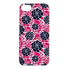 Flower Floral Rose Purple Pink Leaf Apple iPhone 5S/ SE Hardshell Case
