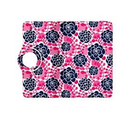 Flower Floral Rose Purple Pink Leaf Kindle Fire HDX 8.9  Flip 360 Case