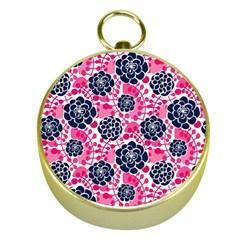 Flower Floral Rose Purple Pink Leaf Gold Compasses