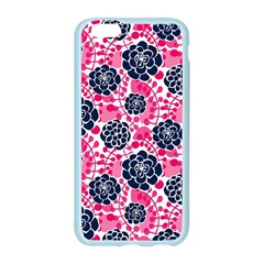 Flower Floral Rose Purple Pink Leaf Apple Seamless iPhone 6/6S Case (Color)