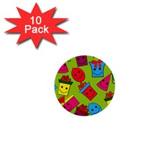 Happy Birthday Background 1  Mini Buttons (10 pack)