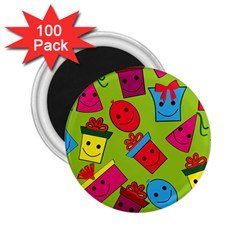 Happy Birthday Background 2.25  Magnets (100 pack)