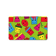 Happy Birthday Background Magnet (Name Card)
