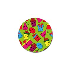Happy Birthday Background Golf Ball Marker (4 pack)