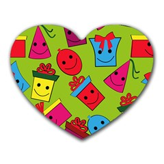 Happy Birthday Background Heart Mousepads