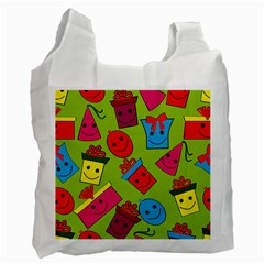 Happy Birthday Background Recycle Bag (Two Side)