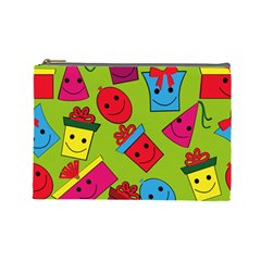 Happy Birthday Background Cosmetic Bag (Large)