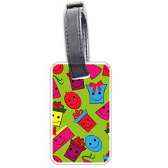 Happy Birthday Background Luggage Tags (One Side)