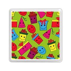 Happy Birthday Background Memory Card Reader (Square)