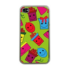 Happy Birthday Background Apple iPhone 4 Case (Clear)