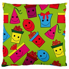Happy Birthday Background Large Cushion Case (Two Sides)
