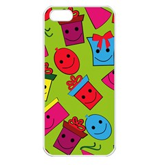 Happy Birthday Background Apple iPhone 5 Seamless Case (White)