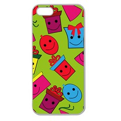 Happy Birthday Background Apple Seamless iPhone 5 Case (Clear)