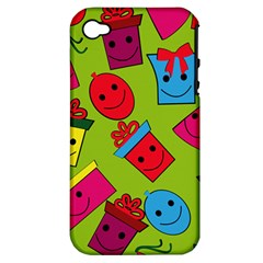 Happy Birthday Background Apple iPhone 4/4S Hardshell Case (PC+Silicone)