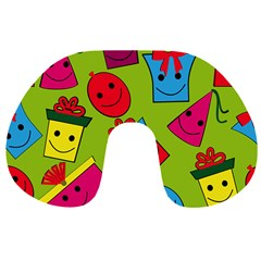 Happy Birthday Background Travel Neck Pillows